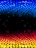 Background Dots Perspective Lights. Disco Abstract Colorful Waves on Black Background Stock Image