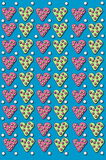 Background Dotted Hearts Royalty Free Stock Images