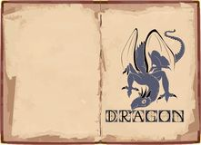 Background with dragon Stock Photography