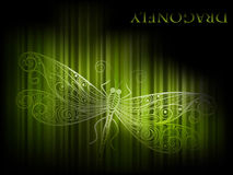 background with dragonfly Stock Image