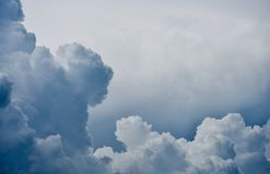 Background of dramatic clouds forming. Background royalty free stock photo