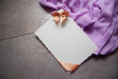 Background with drapery and postcard Royalty Free Stock Photo