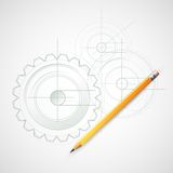 Background Drawing with Pencil. Vector Royalty Free Stock Photo