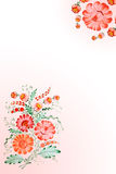 Background with drawn flowers stock illustration