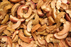 Background with dried apples Stock Image