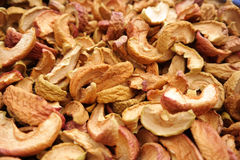 Background with dried apples closeup Stock Image
