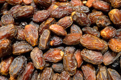Background of dried dates fruit. Stock Images