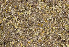 Background of dried medicinal herbs organic royalty free stock photography