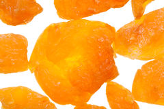 Background from dried peaches Stock Photo