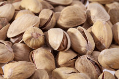 Background of dried pistachios close up Royalty Free Stock Images