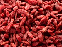 Background of Dried Red Goji Berries Royalty Free Stock Photography