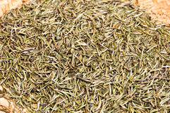 Background of dried tea leaves Stock Photo