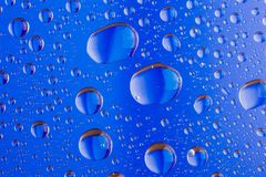 Background of a drop on glass. Macro Stock Photos