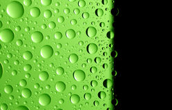 Background with drops. And black copyspace stock photo