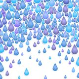 Background with  drops of a rain Royalty Free Stock Photo