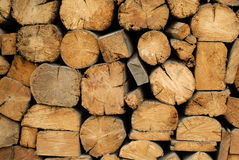 Background of dry chopped firewood Royalty Free Stock Photo