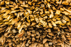 Background of dry chopped firewood. Logs in a pile Stock Photography