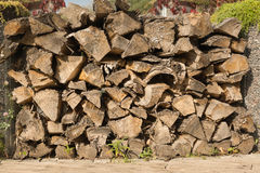 Background of dry firewood Royalty Free Stock Image