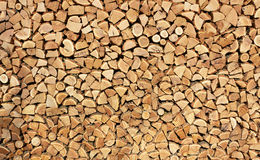 Background of dry firewood Stock Image