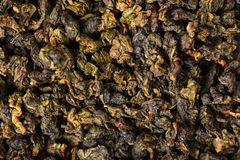 Background dry green tea. Background food, texture of dry green tea Stock Photos