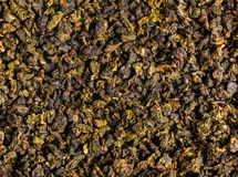 Background dry green tea. Background food, texture of dry green tea Royalty Free Stock Image