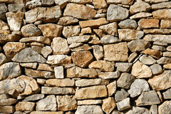 Background of dry limestone wall Stock Photo