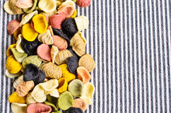Background of dry pasta Stock Images