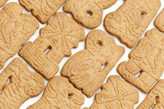Background of dutch speculaas cookies Stock Photo