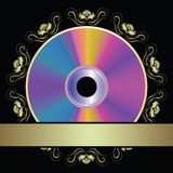 Background with DVD disk Stock Photos