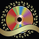 Background with DVD disk Royalty Free Stock Photography