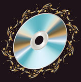 Background with DVD disk Royalty Free Stock Image