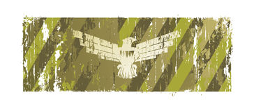 Background with an eagle. And holes from bullets stock illustration