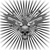 Background eagle with a skull and guns Royalty Free Stock Image