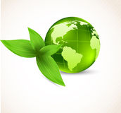 Background with earth and leaves Royalty Free Stock Photo