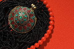 Background east ornaments. This is colorful background of east female ornaments Stock Photos
