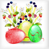 Background with easter egg Royalty Free Stock Image