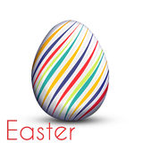Easter egg painted with color lines Royalty Free Stock Photography