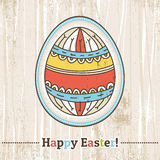 Background with easter egg and text, vector Royalty Free Stock Photography