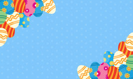 Background of easter egg theme vector Royalty Free Stock Images