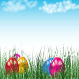 Background with Easter eggs. Royalty Free Stock Image