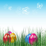 Background with Easter eggs. royalty free stock photo