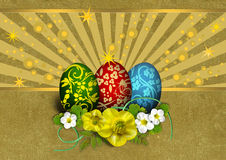 Background with Easter eggs Royalty Free Stock Photography