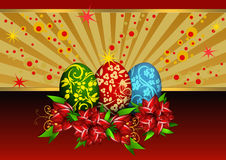 Background with Easter eggs Royalty Free Stock Images