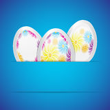 Background with easter eggs Stock Photography