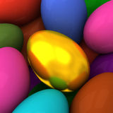 Background of Easter eggs 3d Stock Photo