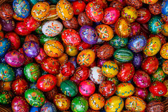 Background with Easter Eggs Royalty Free Stock Image