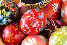Background with Easter Eggs , or easter eggs closeup Royalty Free Stock Images