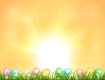 Background with Easter eggs Royalty Free Stock Photos