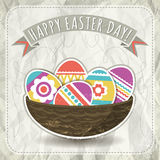Background with easter eggs, vector Royalty Free Stock Image