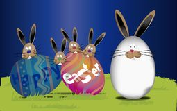 Background Easter (Happy easter Text in egg  ) Stock Images
